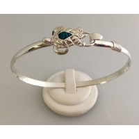 RA2964MBSS Sterling Silver Turtle with Opal Bangle