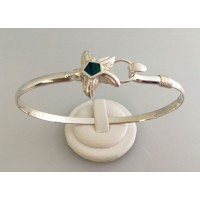 RA2384MBSS Sterling Silver Starfish with Opal Bangle