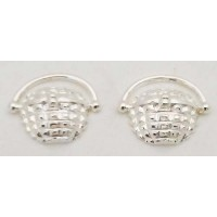 RARD1555PERS Sterling Silver Nantucket Basket Post Earrings