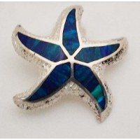 RARD280S Large Sterling Silver Opal Starfish Slider