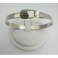 RA7234P8MB Plain Handle and Plain Back Nantucket Basket Bangle