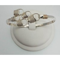 RABASK54MBSS Half Basket Cluster Bangle