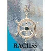 RAC1155C Ships Wheel Charm