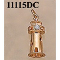 RA11115DC Lighthouse wtih 5 Points of Diamond Charm