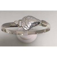 RA3177LG6MBSS Large Oyster Shell Bangle
