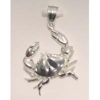 RARD1992PS Large Diamond Cut Crab Pendant.