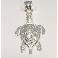 RARD936CS Sterling Silver Diamond Cut Turtle Charm (not moveable)