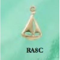 RA8C Tiny Sailboat Charm