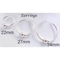 MS27MMCCPESS All Sterling Silver Beach Hoop Earrings
