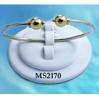 MS2170 Double Ball Open Cuff Beach Bracelet