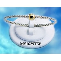 MS1629TW Single Ball Beach Bracelet with Twisted Wire